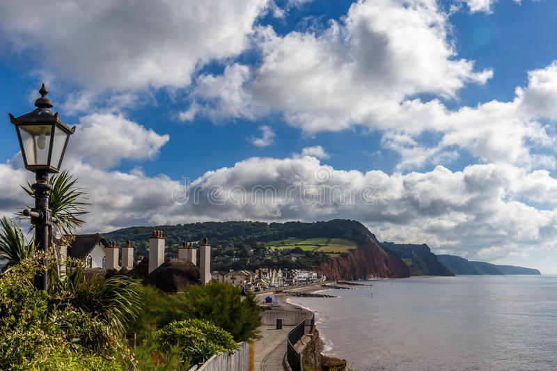 Jurassic Coast in summer. Travelling at Jurassic coast seaside (Devon), UK stock photography
