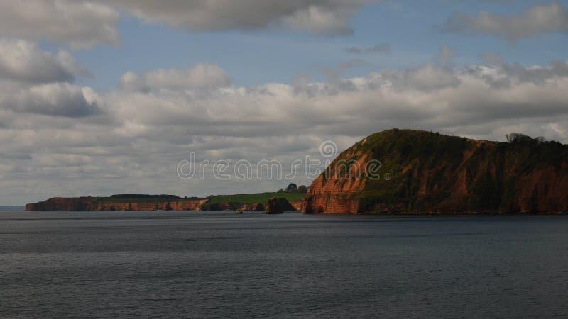 Jurassic kust som är västra av Sidmouth royaltyfria bilder
