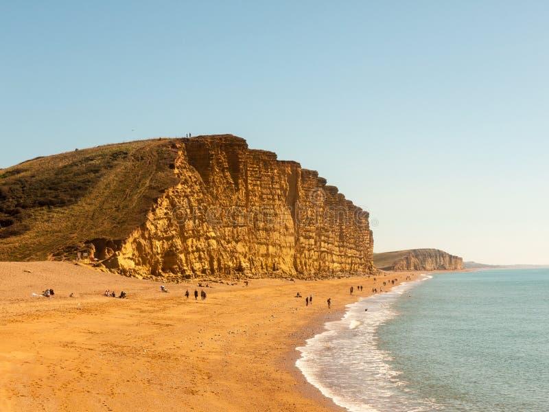 jurassic kustCharmouth dorset klippor vaggar landskapnaturen till royaltyfria foton
