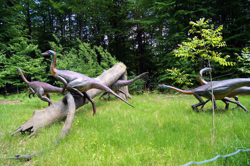 Jurassic Park - dinosaurów potwory fotografia royalty free