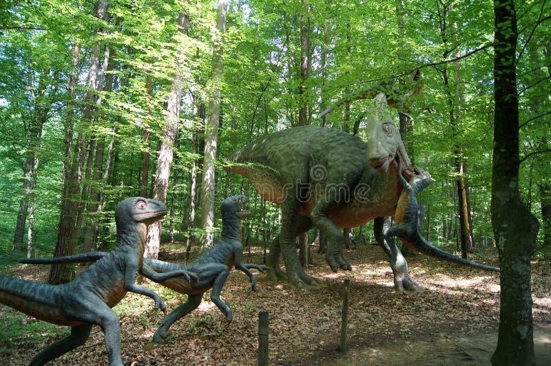 Jurassic Park - dinosaurów potwory fotografia stock