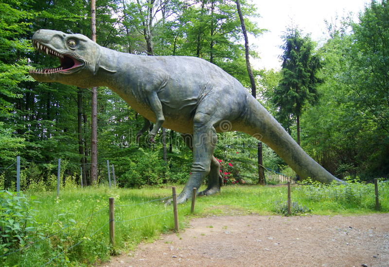 Jurassic Park - dinosaurusmonsters royalty-vrije stock fotografie