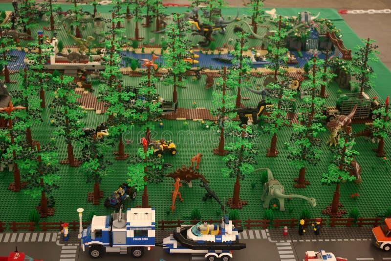 Jurassic park Lego imagem de stock