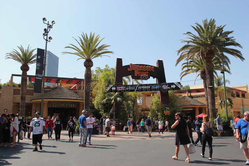 Jurassic Park Ride at Universal Studios Hollywood royalty free stock images