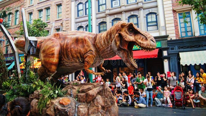 Jurassic Park Tyrannosaurus sen parada obrazy stock