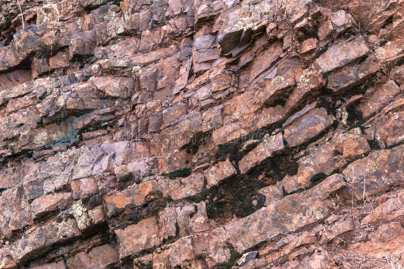 Jurassic rock layers in Mt Diablo State Park royalty free stock photos