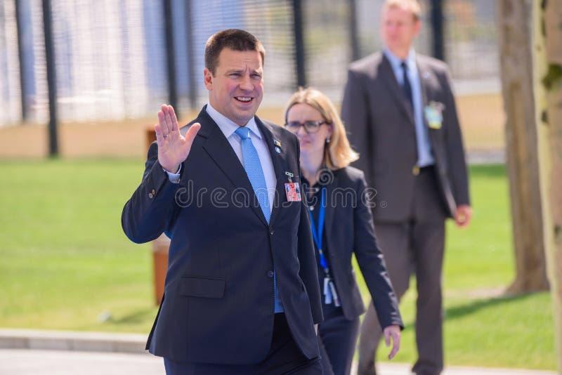 Juri Ratas, premier Estonia obraz royalty free