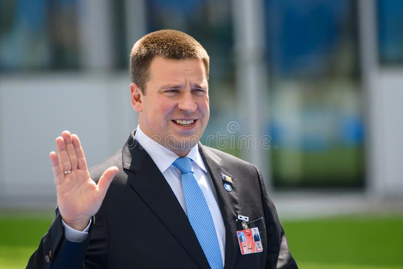 Juri Ratas, Prime Minister of Estonia. 11.07.2018. BRUSSELS, BELGIUM. Juri Ratas, Prime Minister of Estonia, during World leaders Arriving to NATO SUMMIT 2018 royalty free stock image