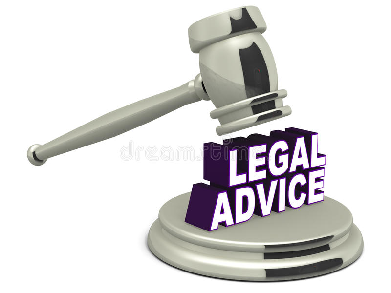 Juridisch advies vector illustratie