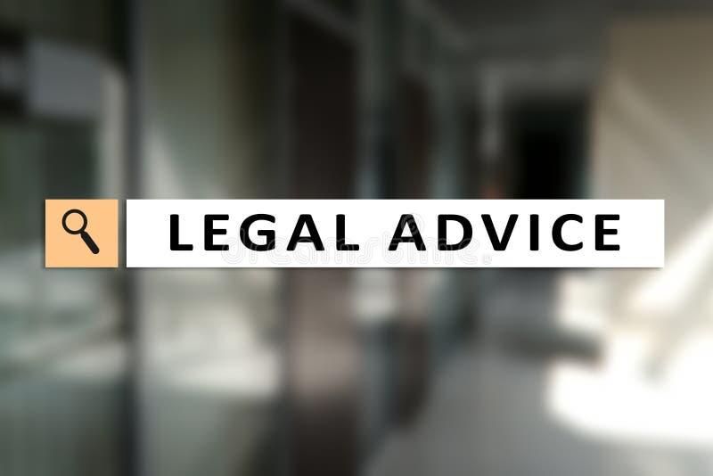 Juridisch advies Ext. op het virtuele scherm consulting Advocaat advocaat, Bedrijfs en Financiënconcept royalty-vrije stock fotografie
