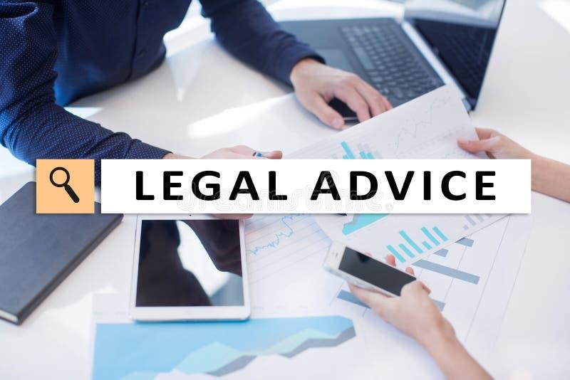 Juridisch advies Ext. op het virtuele scherm consulting Advocaat advocaat, Bedrijfs en Financiënconcept royalty-vrije stock foto