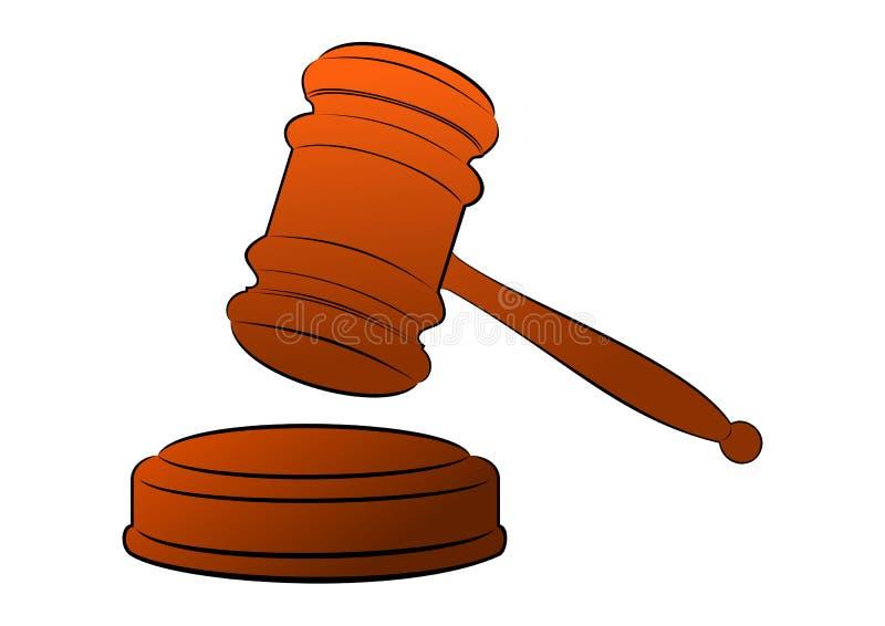 Juridisk eller auktionauktionsklubba stock illustrationer