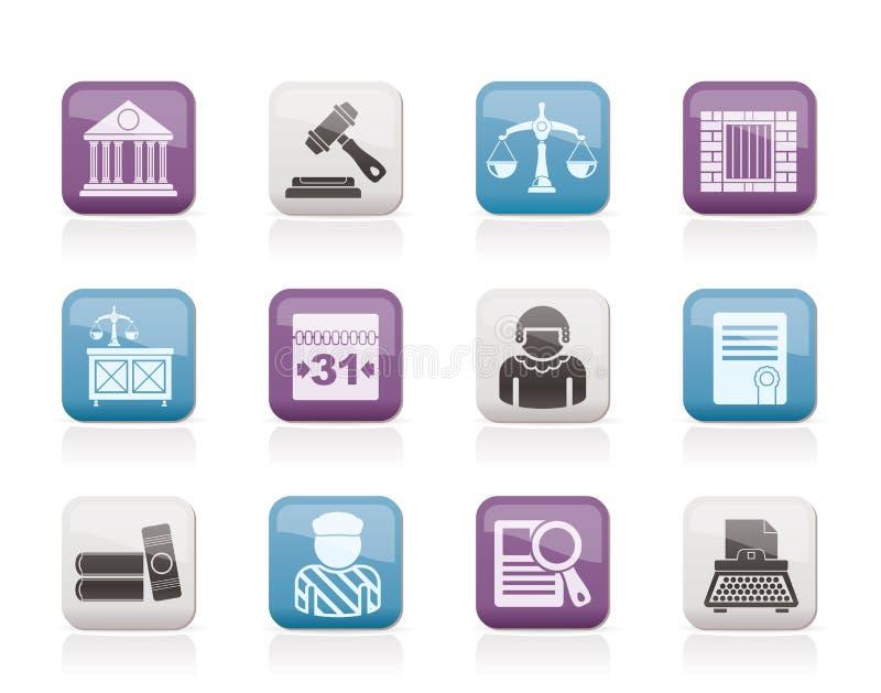 juridisk rättsligt system för symboler vektor illustrationer