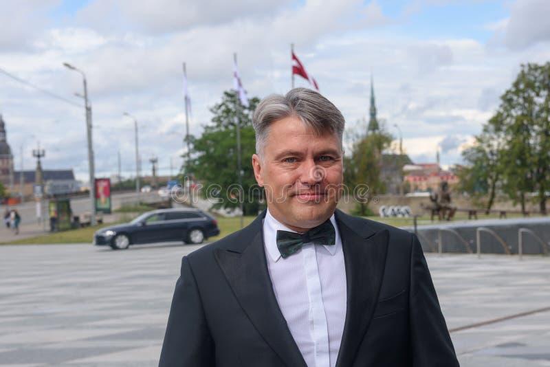 Juris Jansons, Defensor del Pueblo de Letonia y candidato anterior al presidente de Letonia foto de archivo libre de regalías