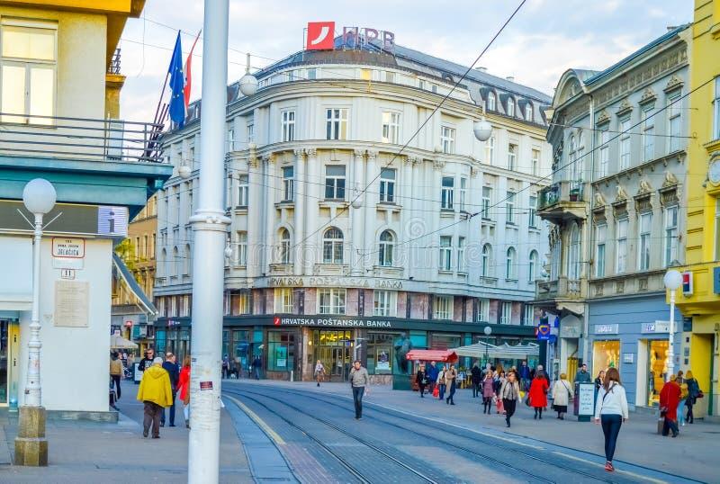 Jurisicevastraat in Zagreb royalty-vrije stock fotografie