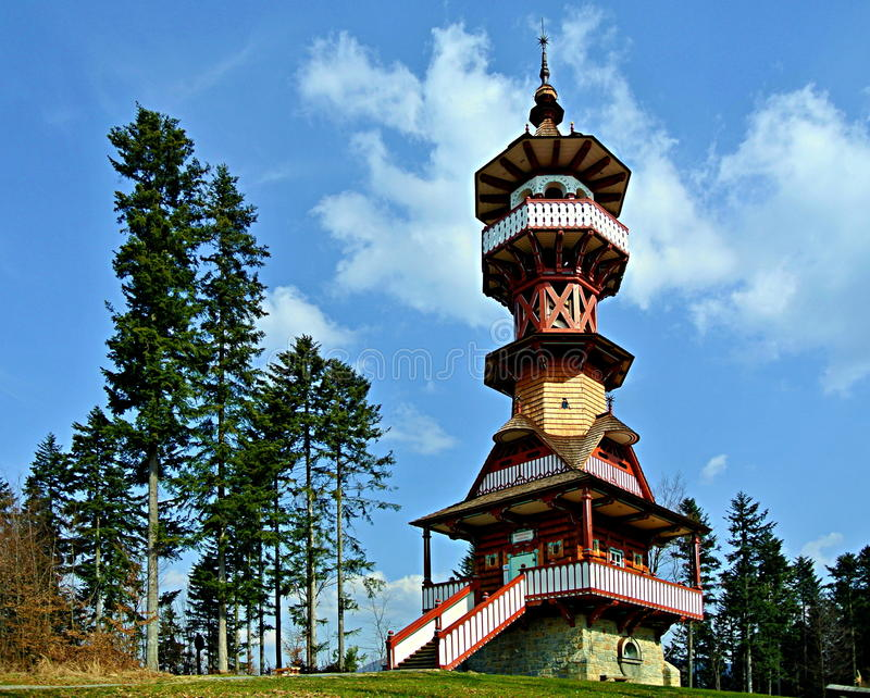 Jurkovic lookout tower stock image