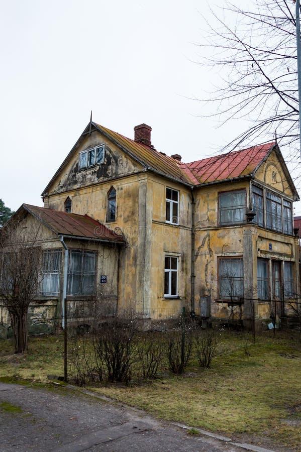 Jurmala,拉脱维亚里加普通建筑学  免版税库存图片