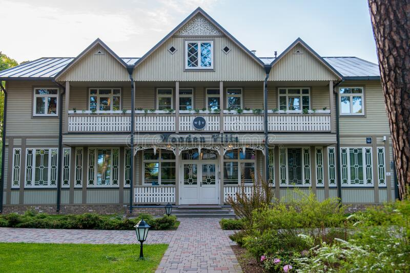 Jurmala, Latvia. Houses in a beautiful resort stock image