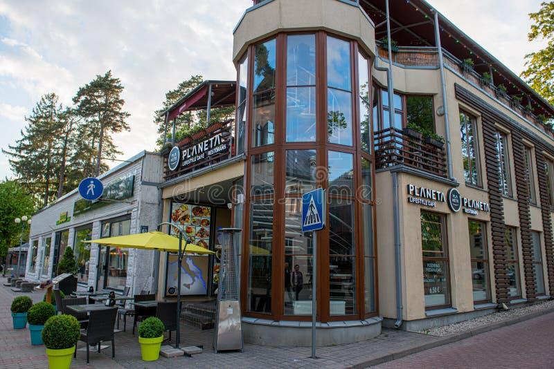 Jurmala, Latvia. Houses in a beautiful resort royalty free stock photos