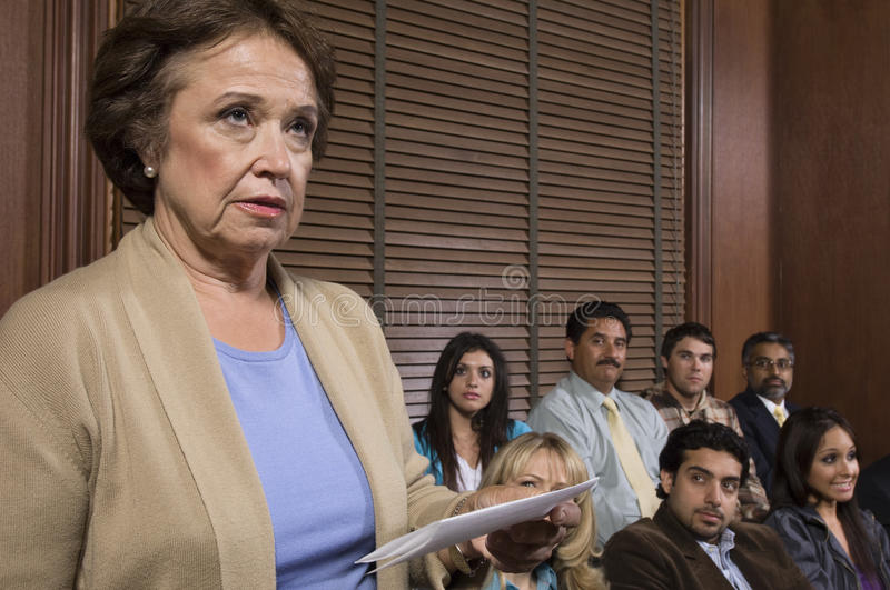 Juror In Jury Box stock image