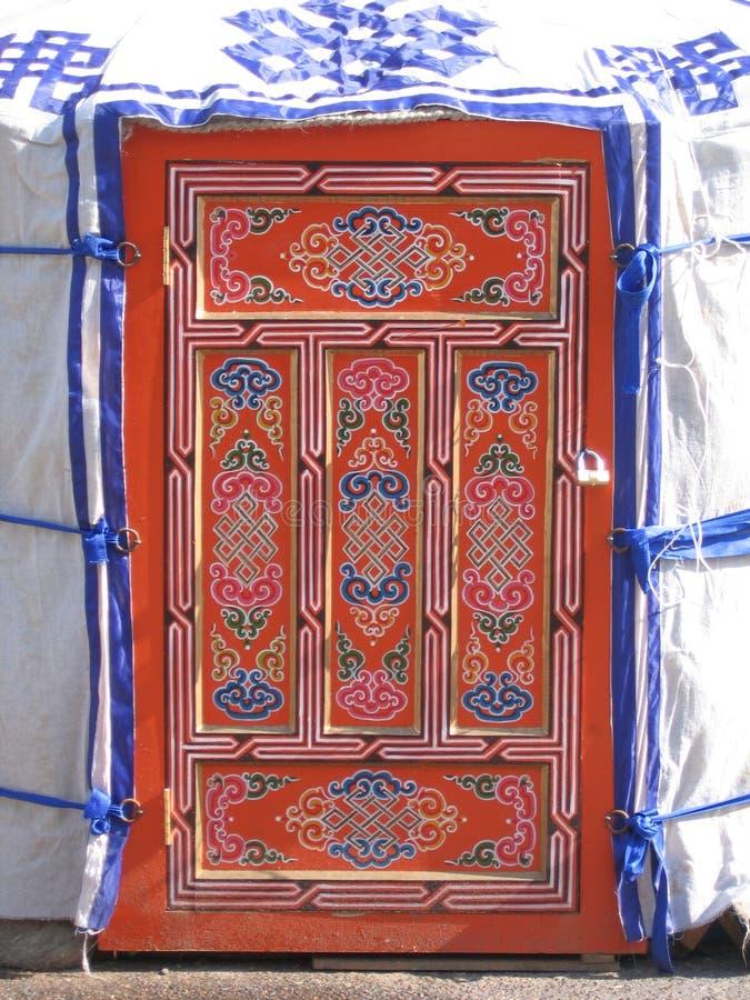 Jurta door. The door of jurta. Buryat nomadic's tant stock images