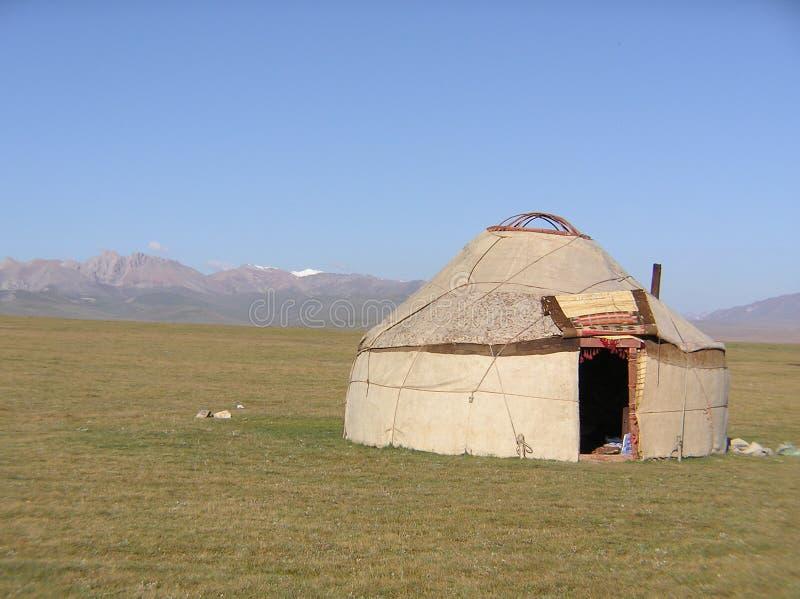 jurta kirgiska obrazy royalty free