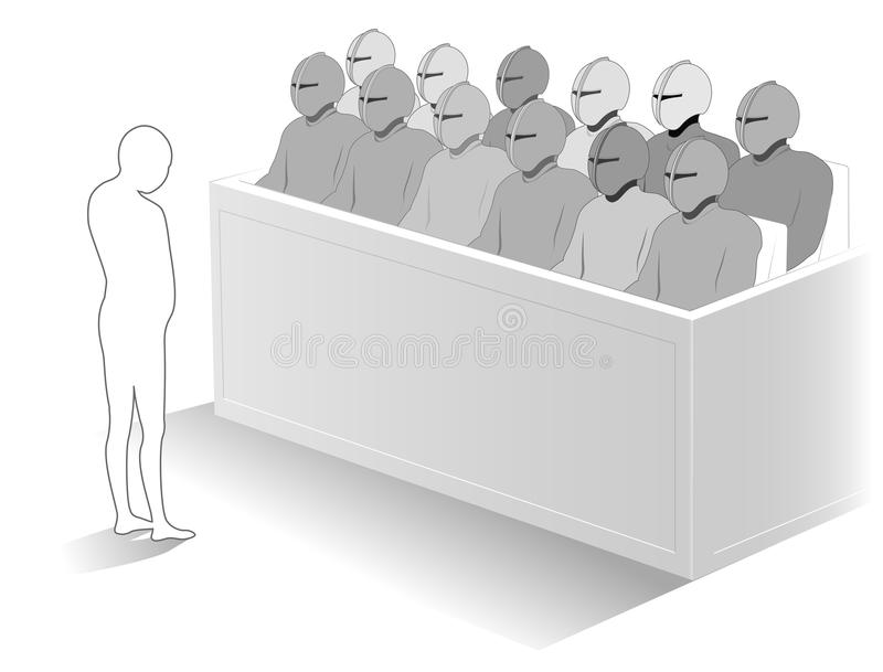 Download The jury stock vector. Image of panel, trial, justice - 28125305