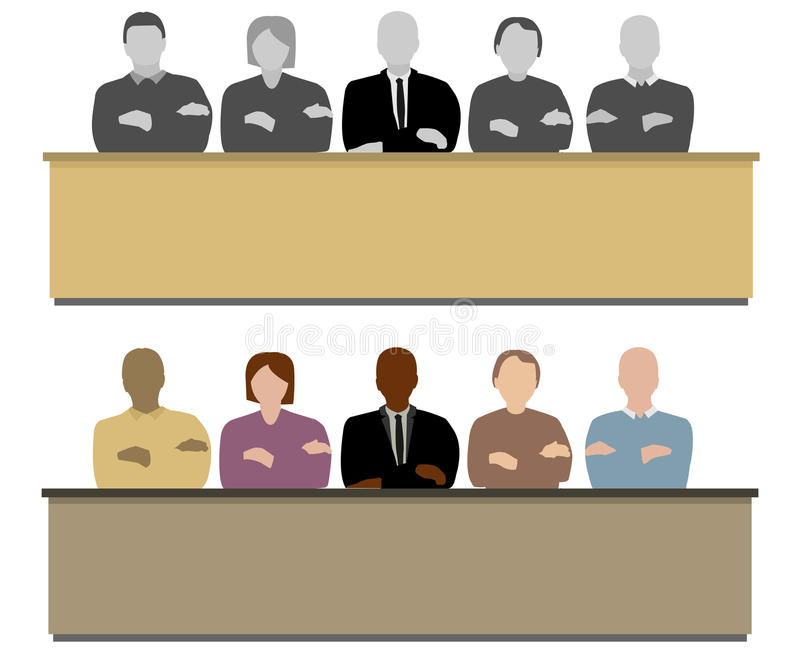 Download The jury stock vector. Image of guilty, panel, group - 28883891