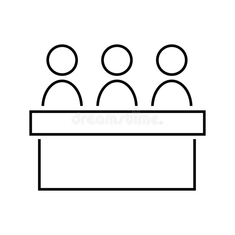 Jury group committee vector icon. jurors illustration symbol. Council symbol. For web or mobile stock illustration