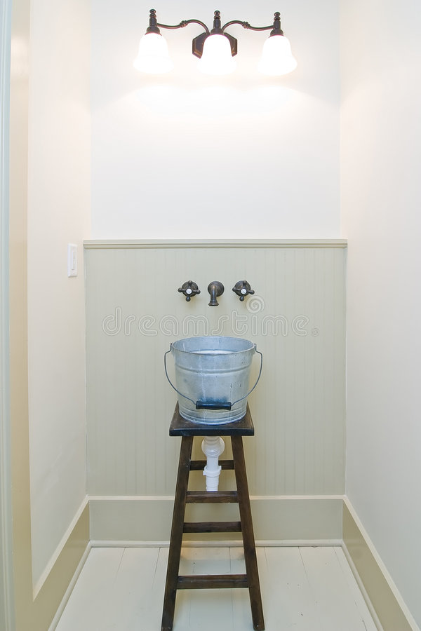 Download Jury rigged bucket sink stock photo. Image of rustic, inside - 3382994