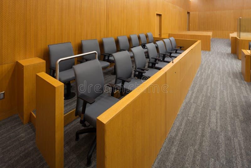 Jurybank royalty-vrije stock foto's