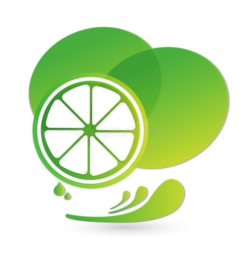 Jus d'éclaboussure de vert de chaux d'icône de vecteur d'agrume illustration de vecteur