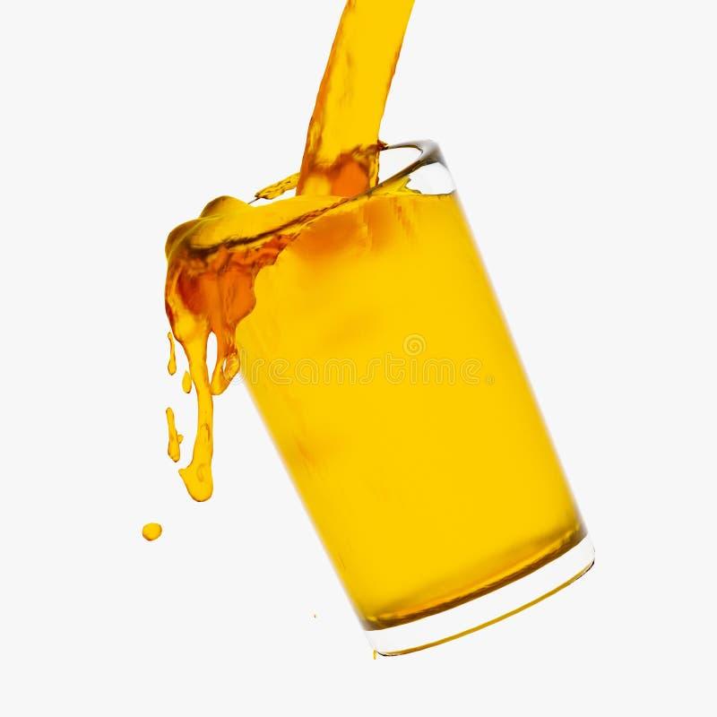 Jus d'orange éclaboussant de l'illustration 3d en verre illustration libre de droits