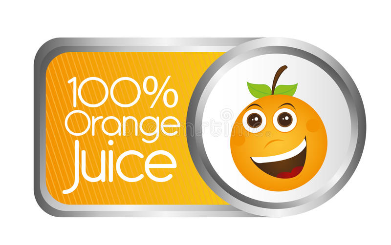 Jus d'orange illustration de vecteur