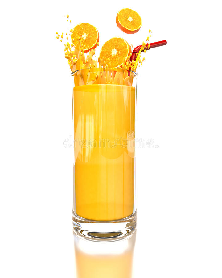 Jus d'orange vector illustratie