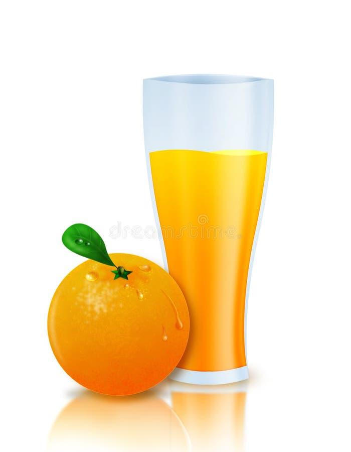 Jus d'orange royalty-vrije illustratie