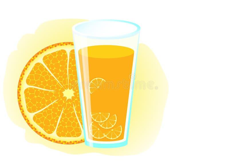 Jus d'orange. vector illustratie