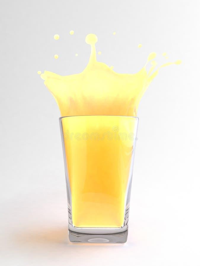 Jus d'orange en glace illustration de vecteur