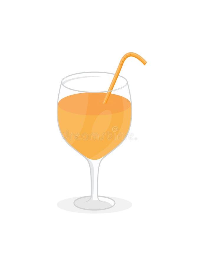 Jus d'orange frais dans une glace photographie stock libre de droits