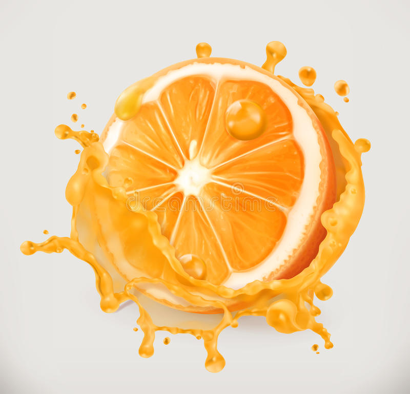 Jus d'orange Fruit frais, icône de vecteur illustration stock