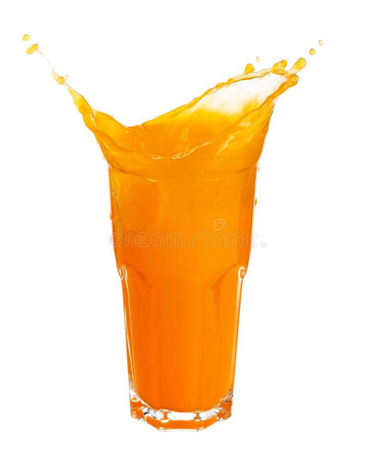 Jus d'orange het bespatten stock foto's