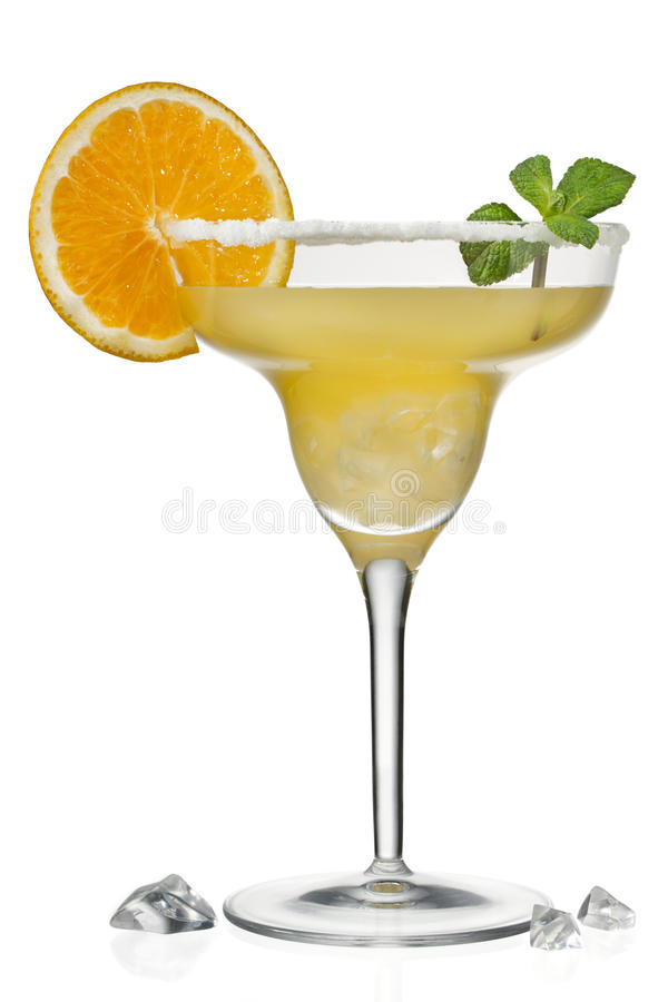 Jus d'orange in martini stock afbeeldingen