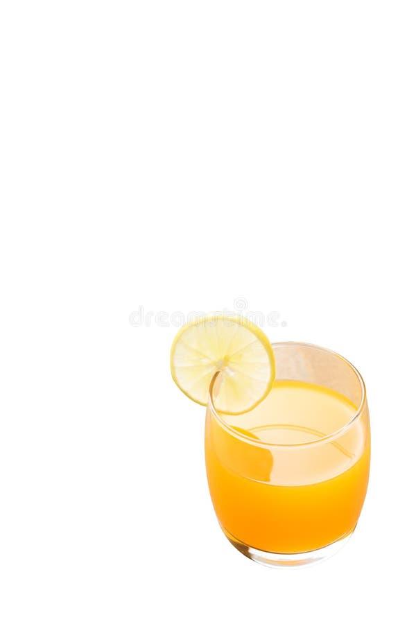 Jus d'orange op isolate achtergrond royalty-vrije stock fotografie