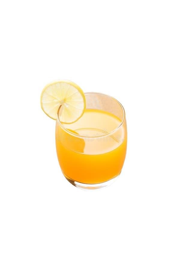 Jus d'orange op isolate achtergrond stock afbeeldingen