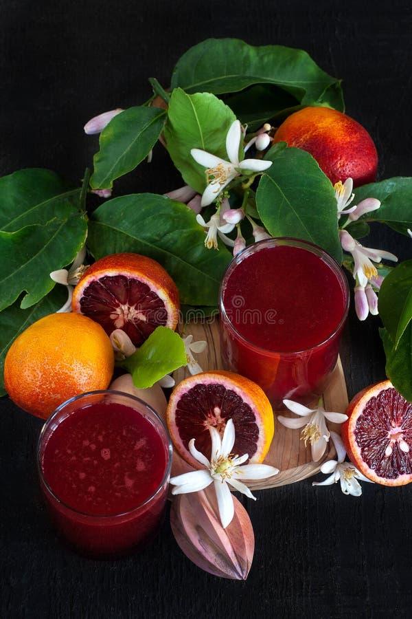 Jus d'orange sanguine photos stock