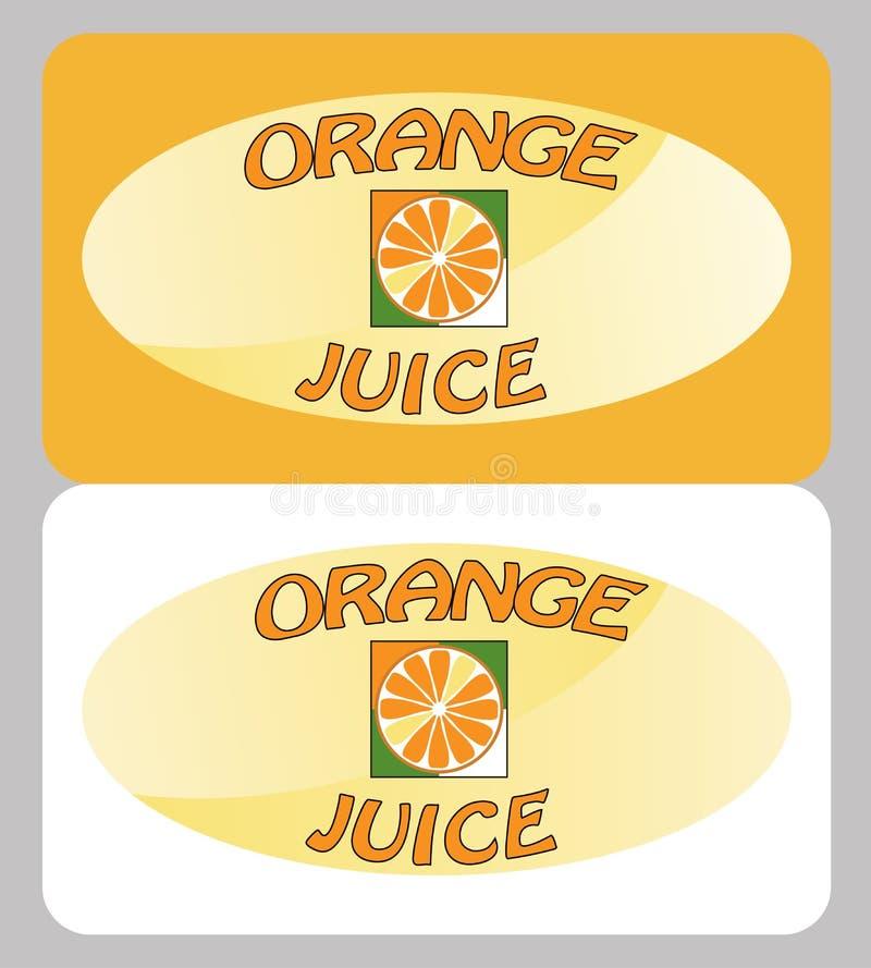 Jus d'orangeaffiche vector illustratie