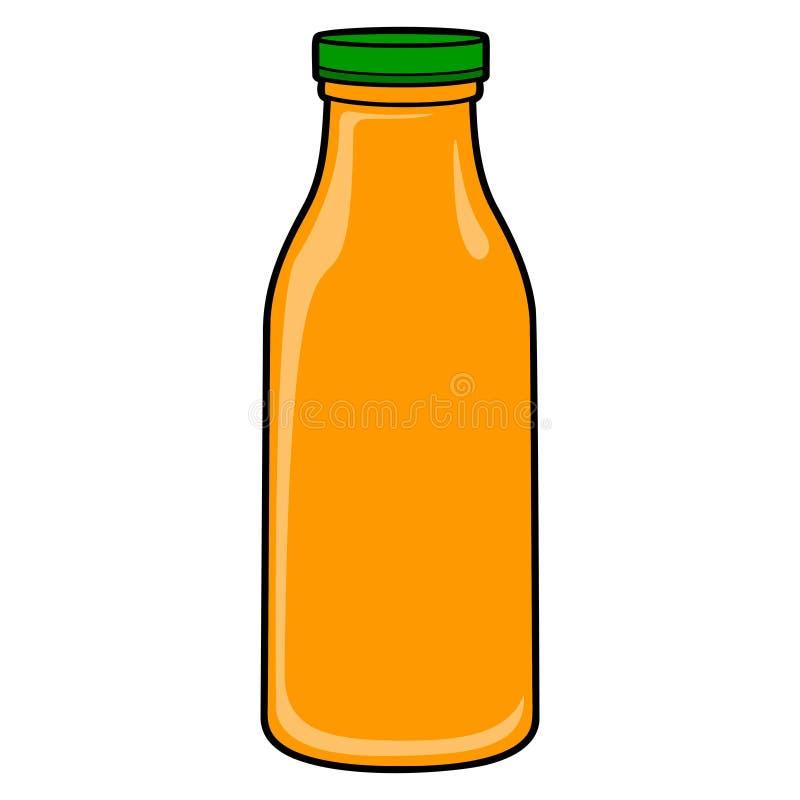 Jus d'orangefles vector illustratie