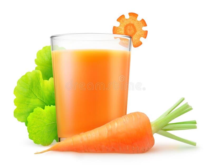 Jus de carotte photographie stock libre de droits