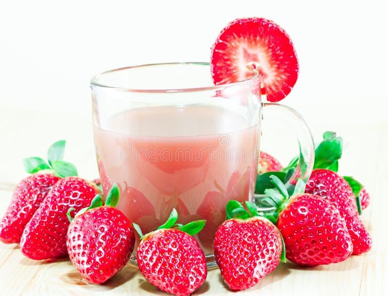 Jus de fraise image libre de droits