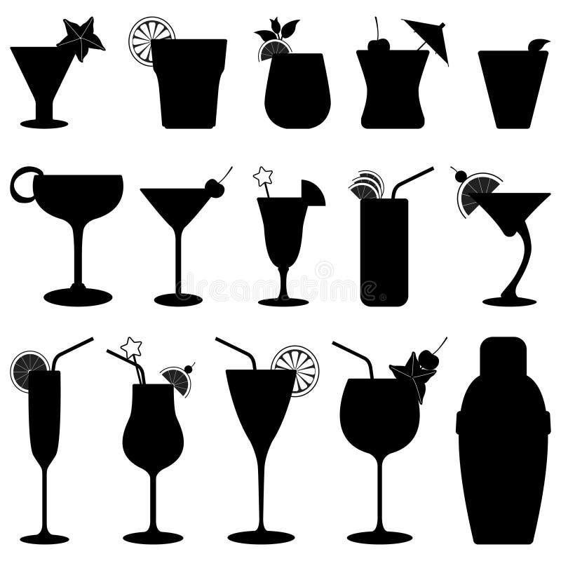 Jus de fruit de boissons de cocktail illustration stock